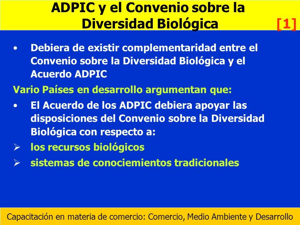 ADPIC y el Convenio sobre la Diversidad Biológica [1]